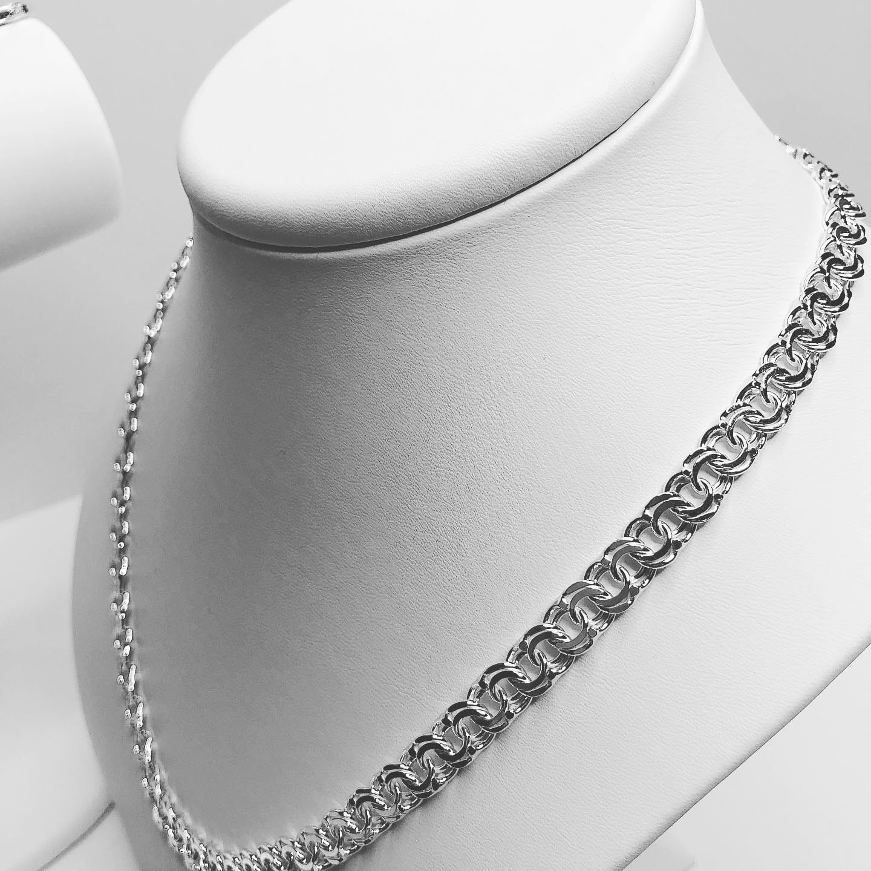Srebrny Męski łańcuszek Garibaldi 8 Mm 925 Król Jewellery